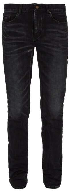 Saint Laurent Mid Rise Skinny Fit Jeans - Mens - Black