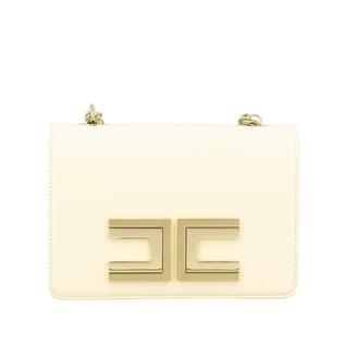 Elisabetta Franchi Shoulder Bag With Maxi Metallic Logo