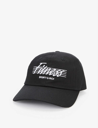 Sporty & Rich Fitness embroidered cotton baseball cap