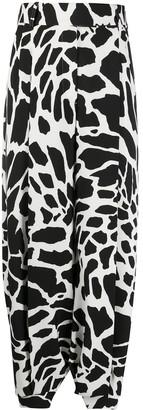 Alexandre Vauthier Animal-Print Wide Leg Trousers