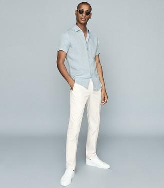 Reiss HOLIDAY Linen slim fit shirt Green
