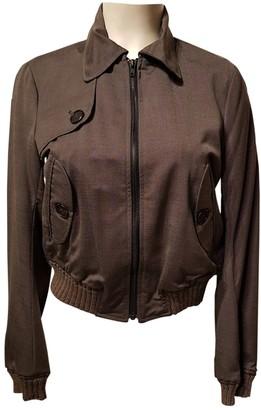 Ikks Grey Leather Jacket for Women