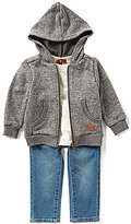 7 For All Mankind Baby Boys 12-24 Months French Terry Hoodie, Jersey Tee, & Denim Jeans Set