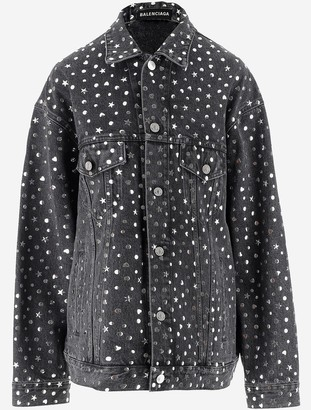 Balenciaga Women's Denim Jacket w/Studded Stars