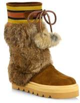 See by Chloe Oxana Rabbit Fur & Suede Boots