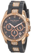 Isaac Mizrahi Women's IMN15RG Rose Gold-Tone Crystal Crystal-Accented Watch with Gray Strap