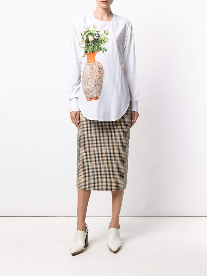 Ports 1961 flower and vase print blouse