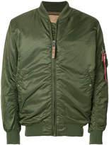 Alpha Industries aviator bomber jacket