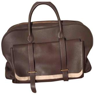 Hermes Brown Leather Travel bags