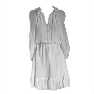 Onelady Silk Dress Short Offwhite Fran