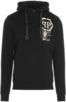 Philipp Plein King Plein Logo Print Hoodie