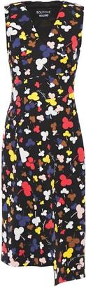 Boutique Moschino Asymmetric Printed Ponte Dress