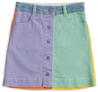 Stella Mccartney Kids Colour-Block Denim Skirt (2-14 Years)