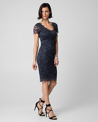 Le Château Corded Lace V-Neck Cocktail Dress