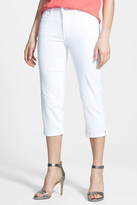 NYDJ &Bella& Colored Straight Leg Stretch Crop Jeans (Petite)
