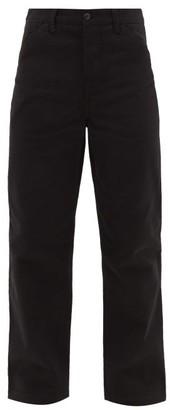 Acne Studios Aleq Straight-leg Cotton-denim Trousers - Mens - Black