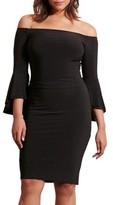 Lauren Ralph Lauren Plus Size Women's Off The Shoulder Jersey Sheath Dress