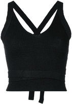 Forte Forte criss cross back top - women - Cotton/Linen/Flax - 0