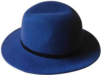 Le Bon Marché Le Bon Marche Blue Wool Hats