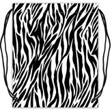 "Stylish Drawstring Bags Funny & Cute Zebra Stripes Prints Basketball Drawstring Bags, Sport Ball Backpack - 16.5""(W) x 19.3""(H), Twin-sided Print"
