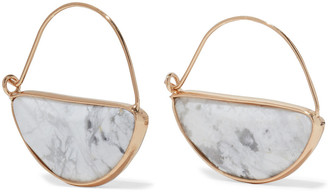 Kenneth Jay Lane 22-karat Gold-plated Stone Earrings