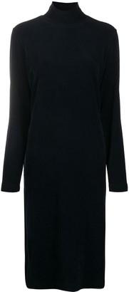 Tibi High-Neck Corduroy Dress