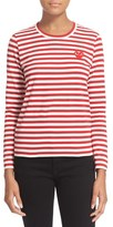 Comme des Garcons Women's Stripe Cotton Tee