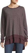 Allen Allen Double-Layer Crewneck Top