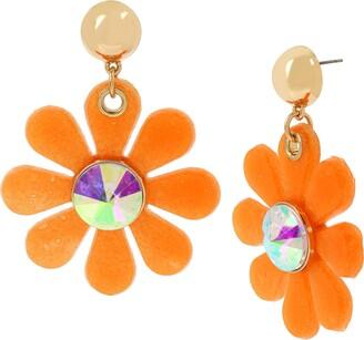 Betsey Johnson Women's Jelly Flower Drop Earrings