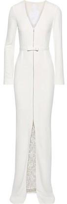 Roland Mouret Guipure Lace-paneled Crepe Gown