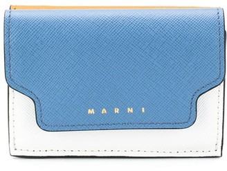 Marni tri-fold colourblock wallet