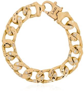 Laud 18kt Yellow Gold Diamond Link Chain Bracelet