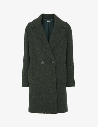 Whistles Double-breasted boucle wool-blend coat