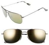 Ray-Ban Men's 59Mm Polarized Aviator Sunglasses - Matte Gunmetal/green Mirror