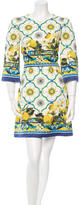 Dolce & Gabbana Spring 2016 Lemon & Majolica Brocade Dress