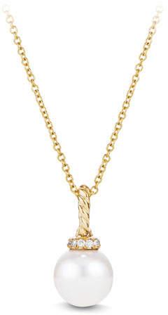 David Yurman Solari 18K Gold & Pearl Pendant Necklace with Diamonds