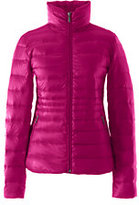 Lands' End Women's Petite Lightweight Down Jacket-Crimson Currant