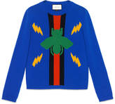 Gucci Bee jacquard wool sweater