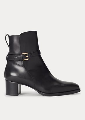 Ralph Lauren Callie Burnished Calfskin Boot