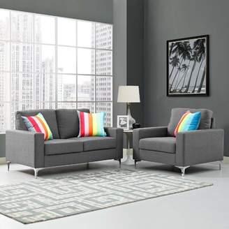 Hollander Orren Ellis 2 Piece Living Room Set Orren Ellis Upholstery Color: Gray