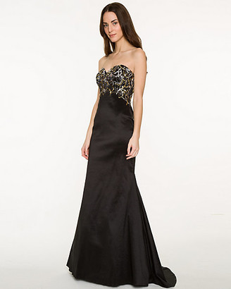 Le Château Sequin Taffeta Mermaid Gown