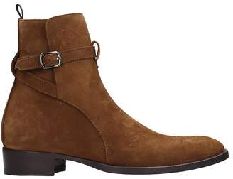 Marc Ellis High Heels Ankle Boots In Brown Suede