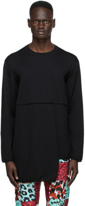 Comme des Garçons Homme Plus Black Worsted Yarn Crewneck Sweater