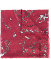 Alexander McQueen Battle of Beast scarf - women - Silk/Modal - One Size