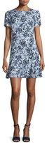 MICHAEL Michael Kors Gemma Floral-Print Silk Flounce Dress