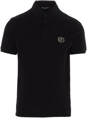 Dolce & Gabbana Monogram Logo Polo Shirt