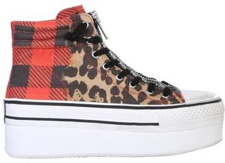 Ash Jagger Animal Print Platform Sneakers