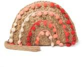 America & Beyond Coral Pompom Fiesta Clutch