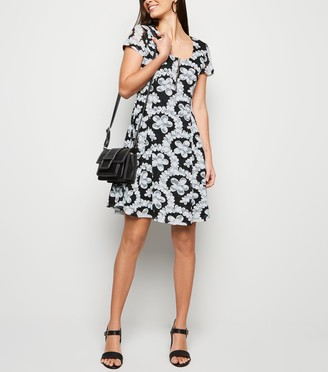 New Look Lace Zip Front Dress