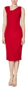 Laundry by Shelli Segal Crepe Asymmetrical Dress
